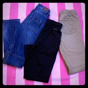 Boys size 12 jeans and joggers Lot of 3 school